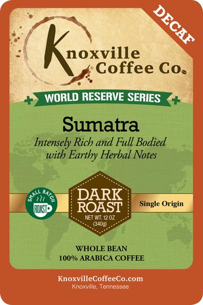 KCC World Reserve Sumatra Decaf Coffee
