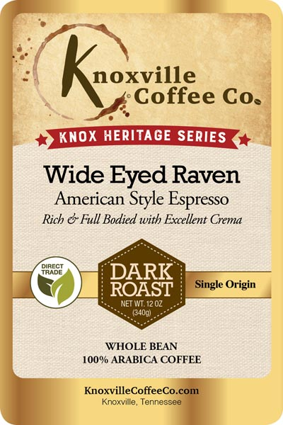 Knox Heritage Wide Eyed Raven Coffee